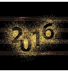New year glowing background vector