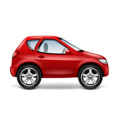 Red car isolated on white vector image