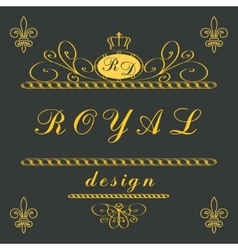 Luxury logo template vector