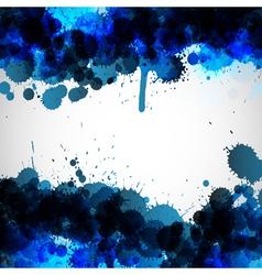 Blue ink blots background vector