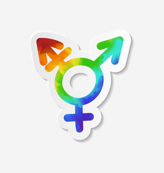 Gender identity icon Intersex or transgender sign vector image