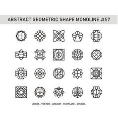 Abstract geometric shape monoline 57 vector