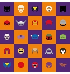 Abstract halloween masks vector