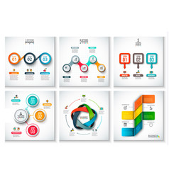Abstract infographics number options template vector