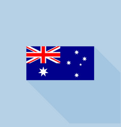 australia flag in official proportions vector image vector image