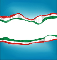background with Italian and mexican flag vector image vector image