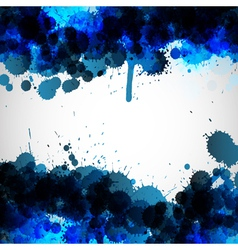 Blue ink blots background vector image vector image