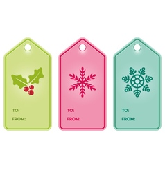 Christmas present hang tags vector image
