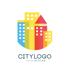 city logo original design modern city building vector image