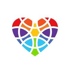 Colored heart logo Heart logo design Heart design vector image vector image