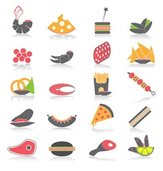 Colorful flat food snacks vector