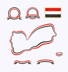 Colors of Yemen vector image vector image