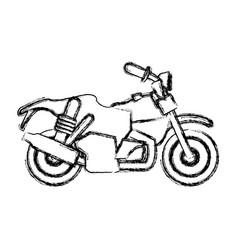 custom vintage motorcycle vector image vector image