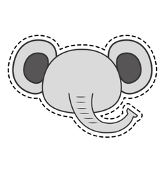 Cute elephant kawaii character vector