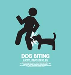 Dog biting symbol vector