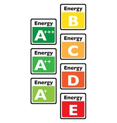 EnergyTagsX vector image vector image