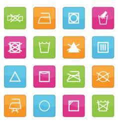 Fabric care symbols vector
