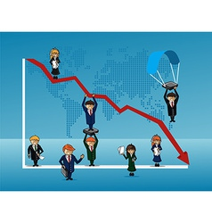 Finance bussines people vector image
