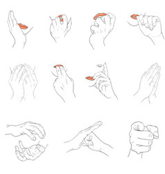 Finger and lip action vector