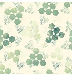 Geometric pattern of hexagon triangle vector image