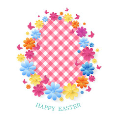 Happy easter day greeting card vector