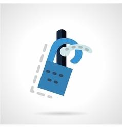 Label on a door handle flat icon vector