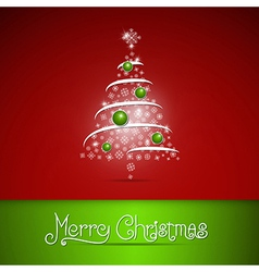 Merry Christmas theme on red background vector image vector image