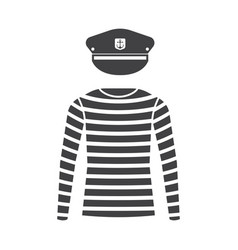 sailor shirt and captain cap vector image vector image