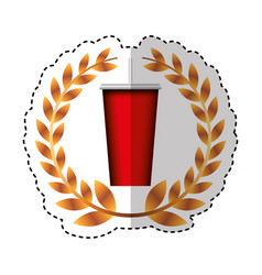 soda glass isolated icon vector image vector image