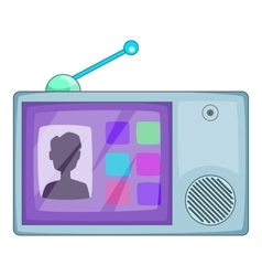Video intercom icon cartoon style vector