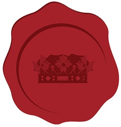 Wax stamp vector