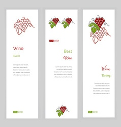 Wine business template vector image