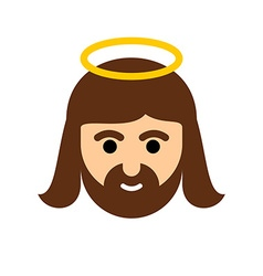 Jesus flat icon christ is the son of god holy man vector