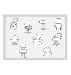 Collection of chair vector