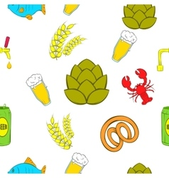 Alcohol pattern cartoon style vector