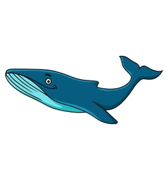 Large blue whale mascot vector