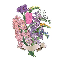 Spring flowers bouquet vector