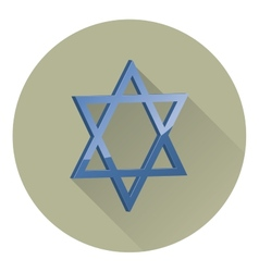 Six-pointed star of david vector
