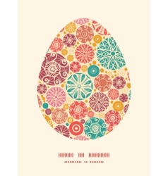 Abstract decorative circles easter egg vector
