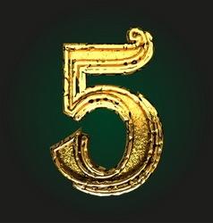 5 golden letter vector image vector image