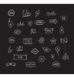 Hand drawn ampersands and catchwords vector