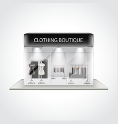Clothing boutique building isolated vector
