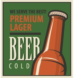 beer retro vector image