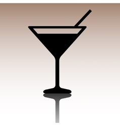 Black coctail icon vector