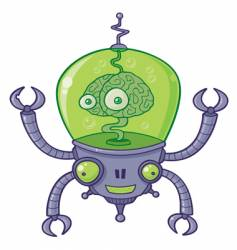 brainbot robot with brain vector image
