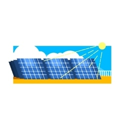Alternative energy solar power vector