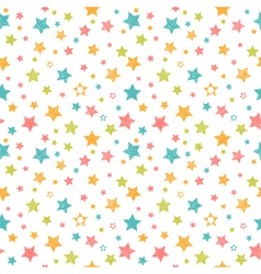 Cute seamless pattern with stars stylish print vector