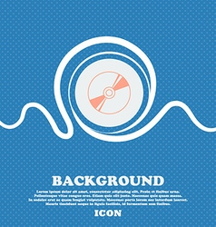 Cd DVD compact disk blue ray sign icon Blue and vector image