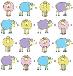 Sheeps coloured vector