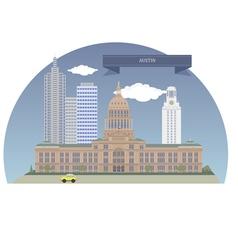 Austin vector image vector image